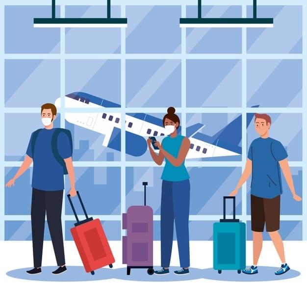 aeropuerto en tiempos de pandemia