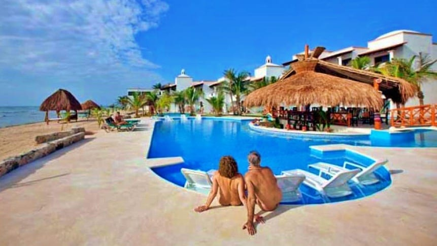 Hoteles nudistas de lujo en Cancún.