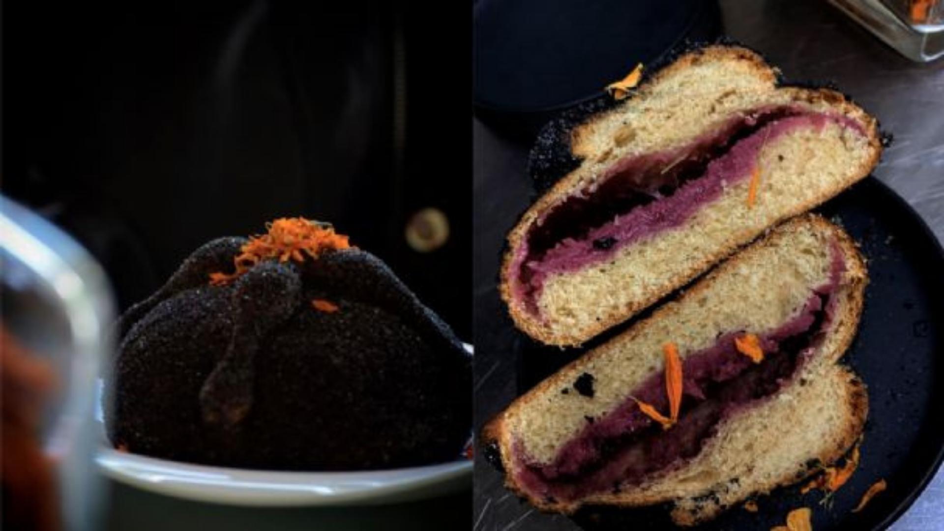 Pan de Muerto Negro ¡hecho con ceniza!